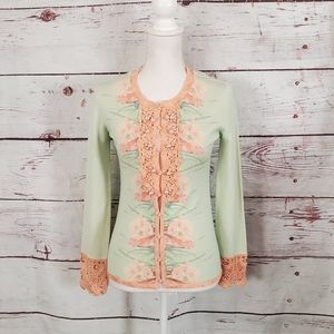 Zac Posen Mustique Floral Cardigan Size Small